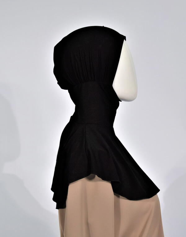 Black Hijab Bonnet