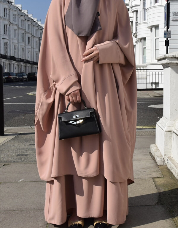 Hawa Two Piece Jilbab Set Peach