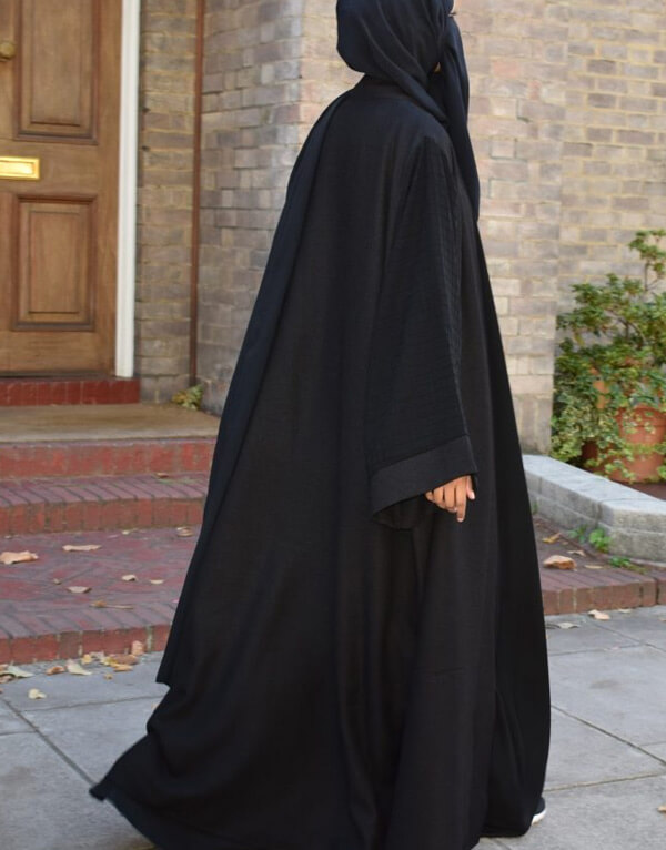 Open Oversized Textured Coat Abaya