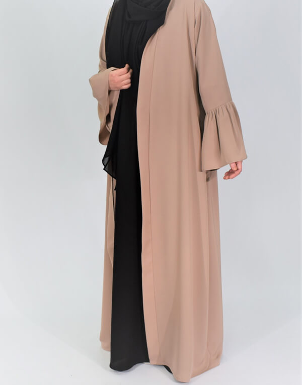Bell Sleeves Open Abaya